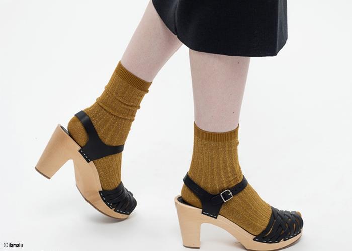 Lurex Socken Collegien